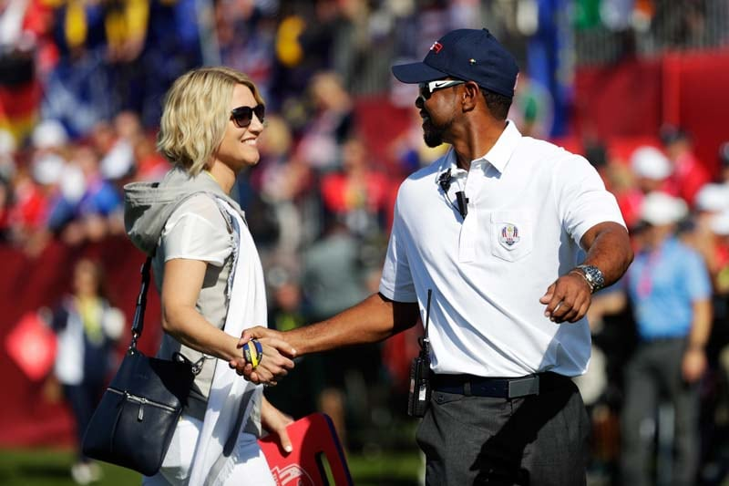 Tiger Woods and Emma Stenson