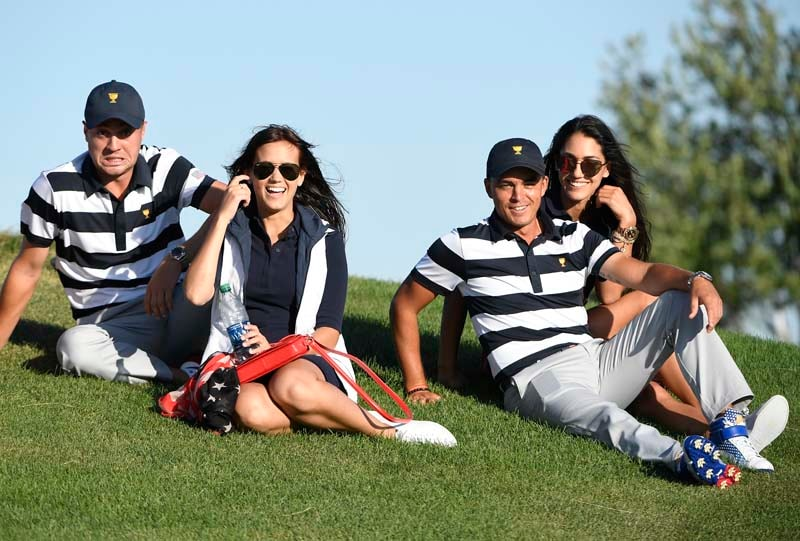 Allison Stokke, Rickie Fowler, Justin Thomas and Jillian Wisniewski