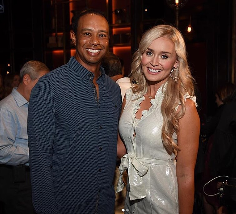 Blair O'Neal and Tiger Woods