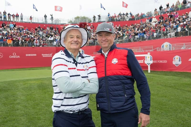 Bill Murray and Davis Love III