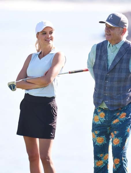 Kelly Rohrbach and Bill Murray