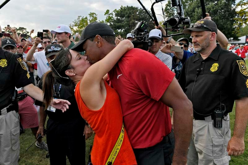 Tiger Woods and Erica Herman