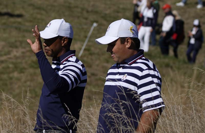 Tiger Woods and Patrick Reed