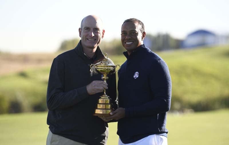 Jim Furyk and Tiger Woods