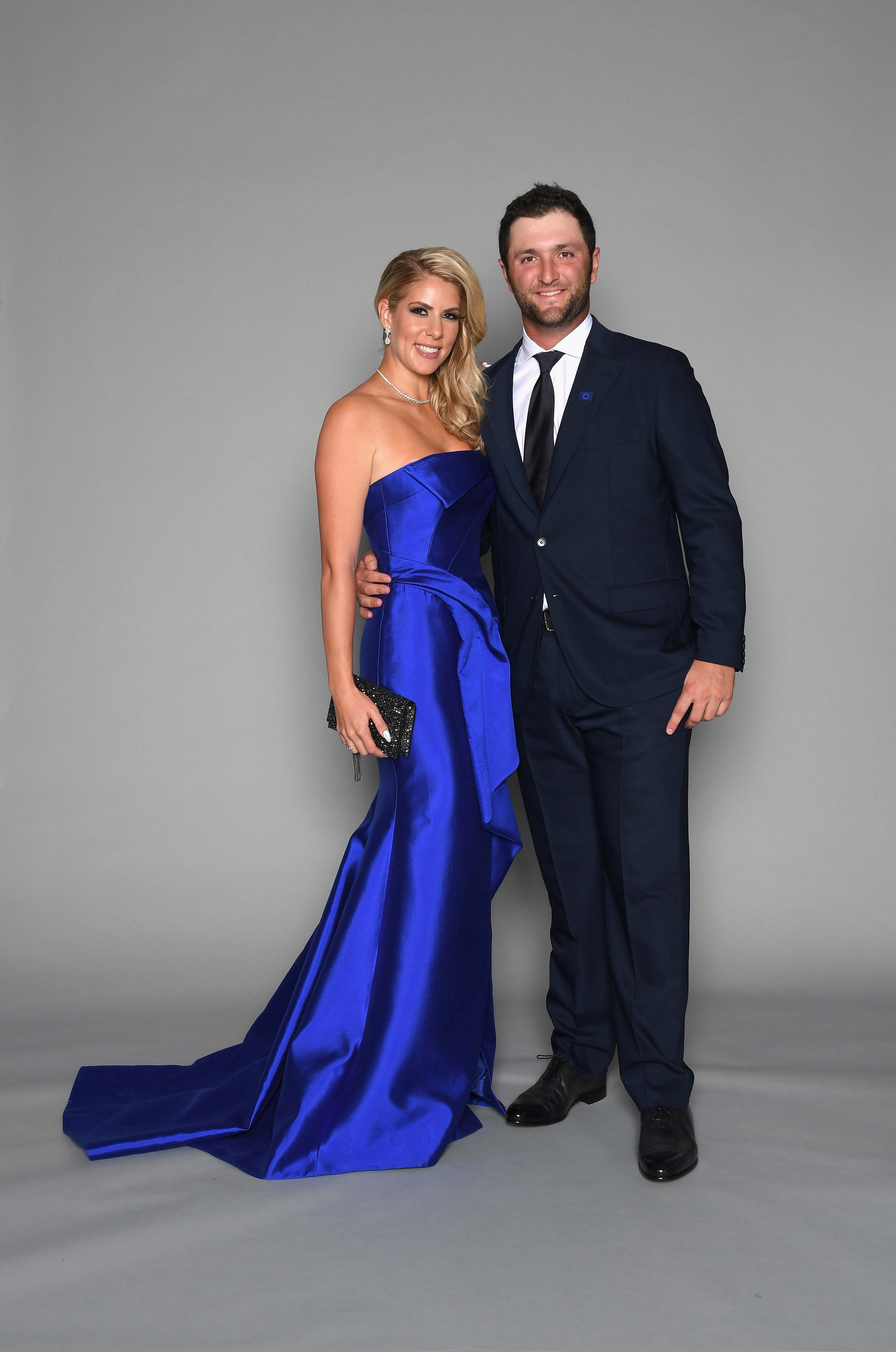 Jon Rahm and with his wife Kelley Cahill