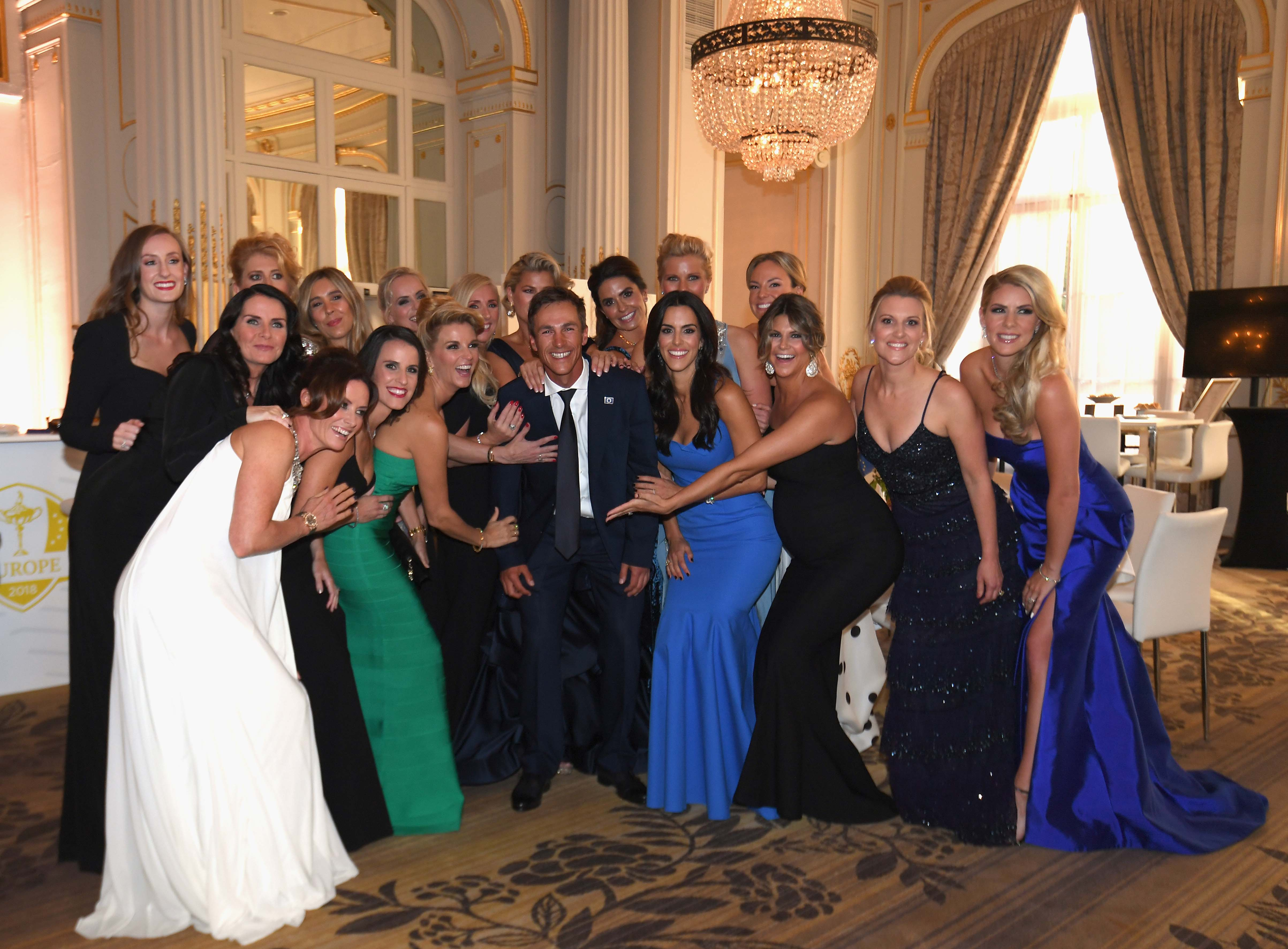 Thorbjorn Olesen and the ladies of the European Ryder Cup squad