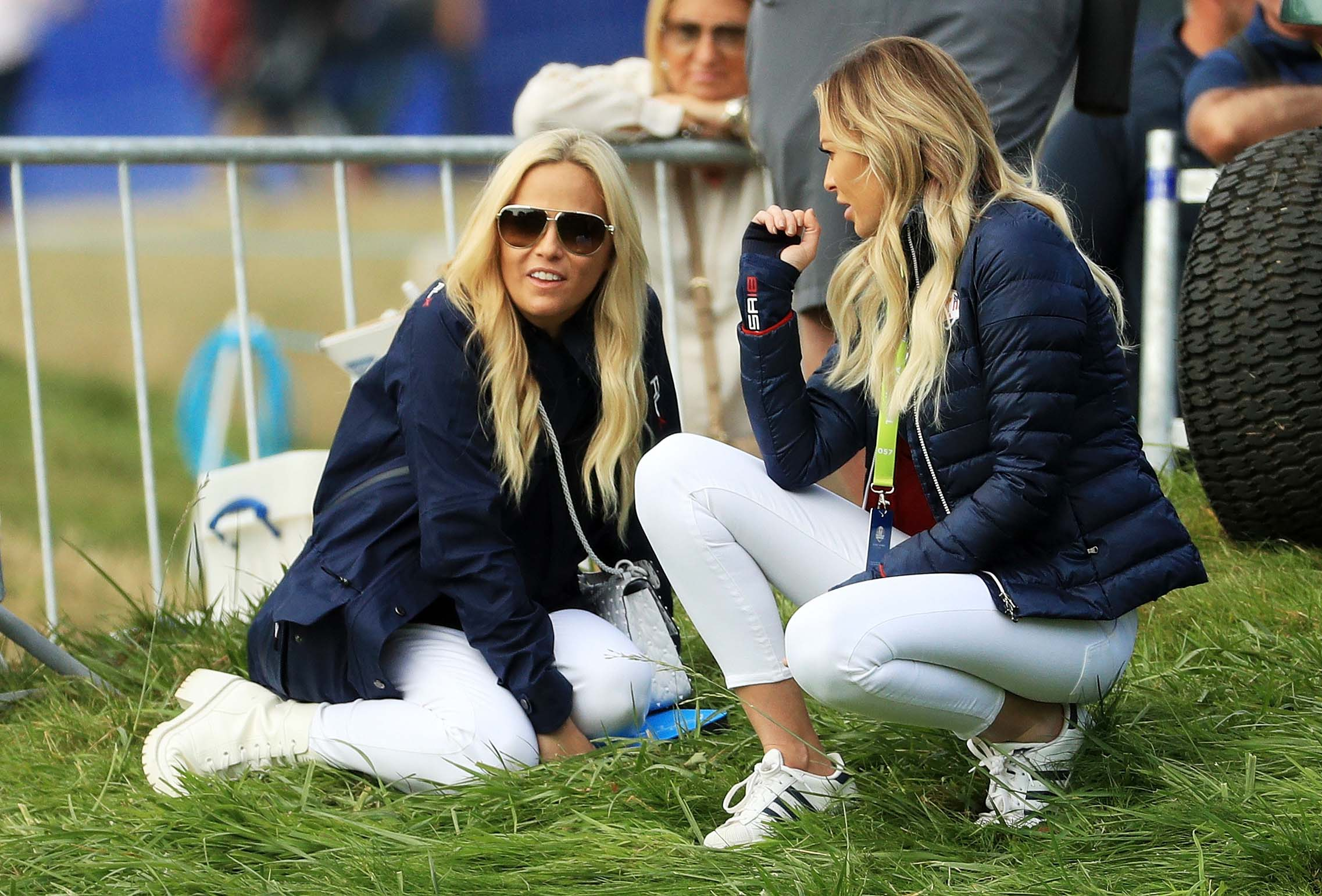 Amy Mickelson and Paulina Gretzky