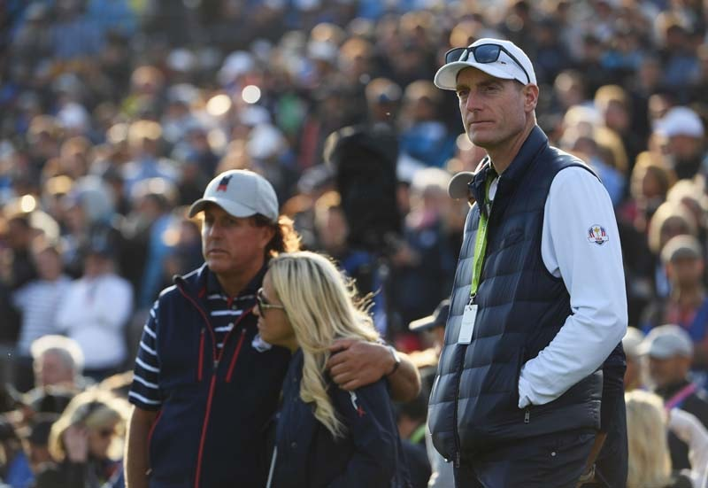 Jim Furyk, Phil Mickelson and Amy Mickelson