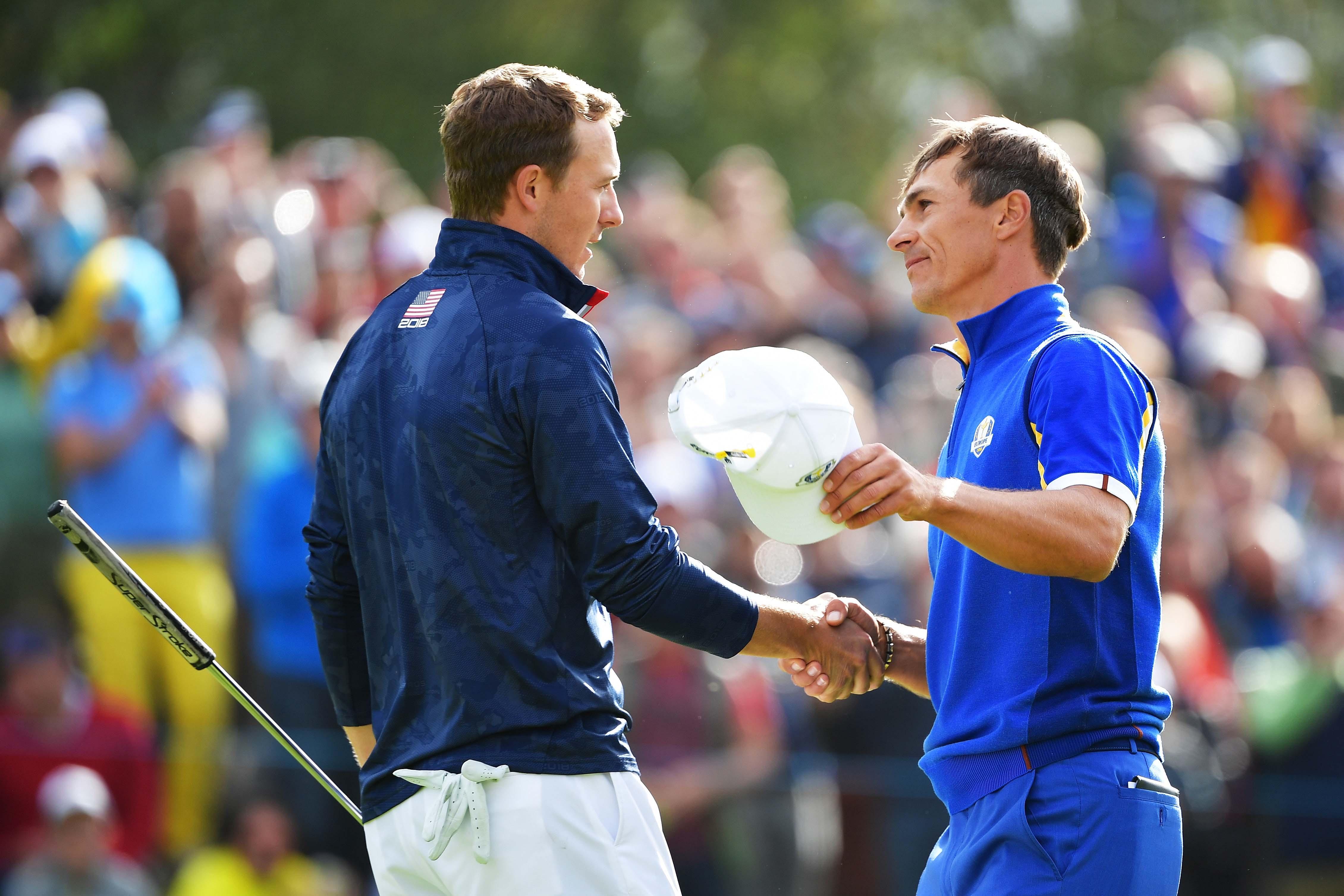 Jordan Spieth and Thorbjorn Olesen