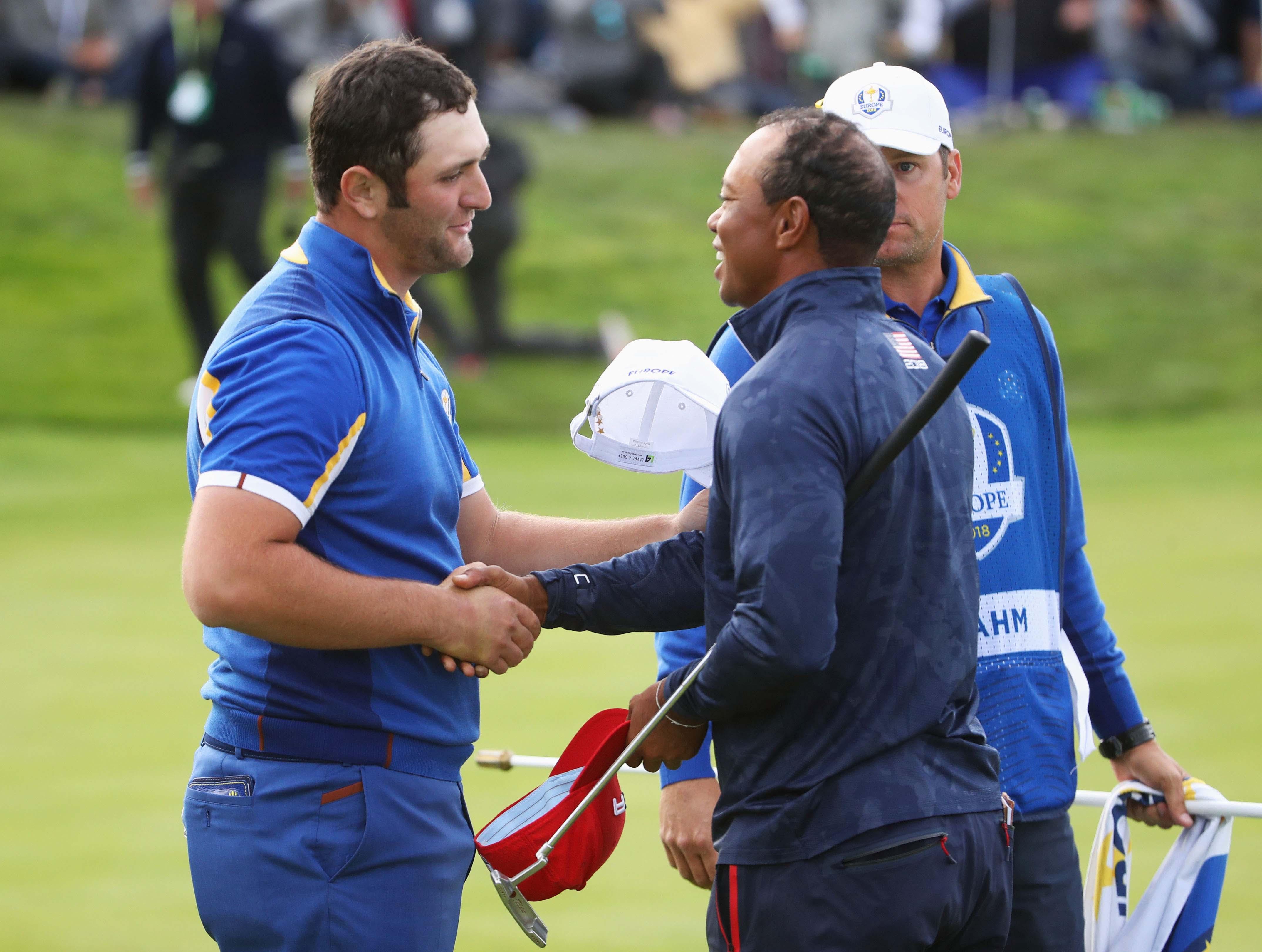 Jon Rahm and Tiger Woods