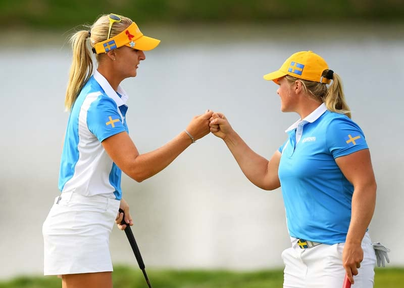 Anna Nordqvist and Caroline Hedwall