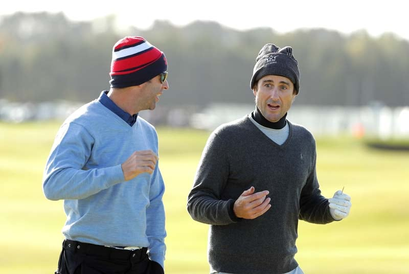Luke Wilson and Bradley Dredge