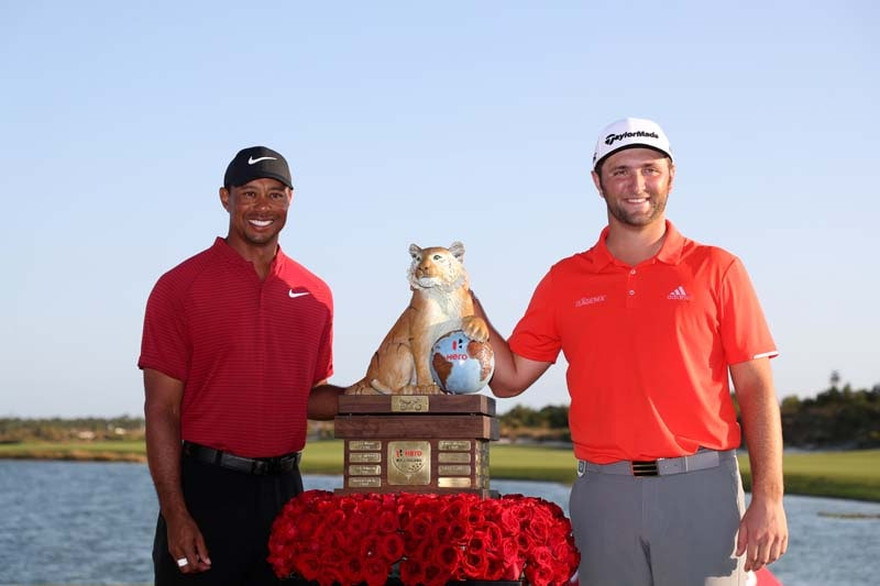 Jon Rahm and Tiger Woods