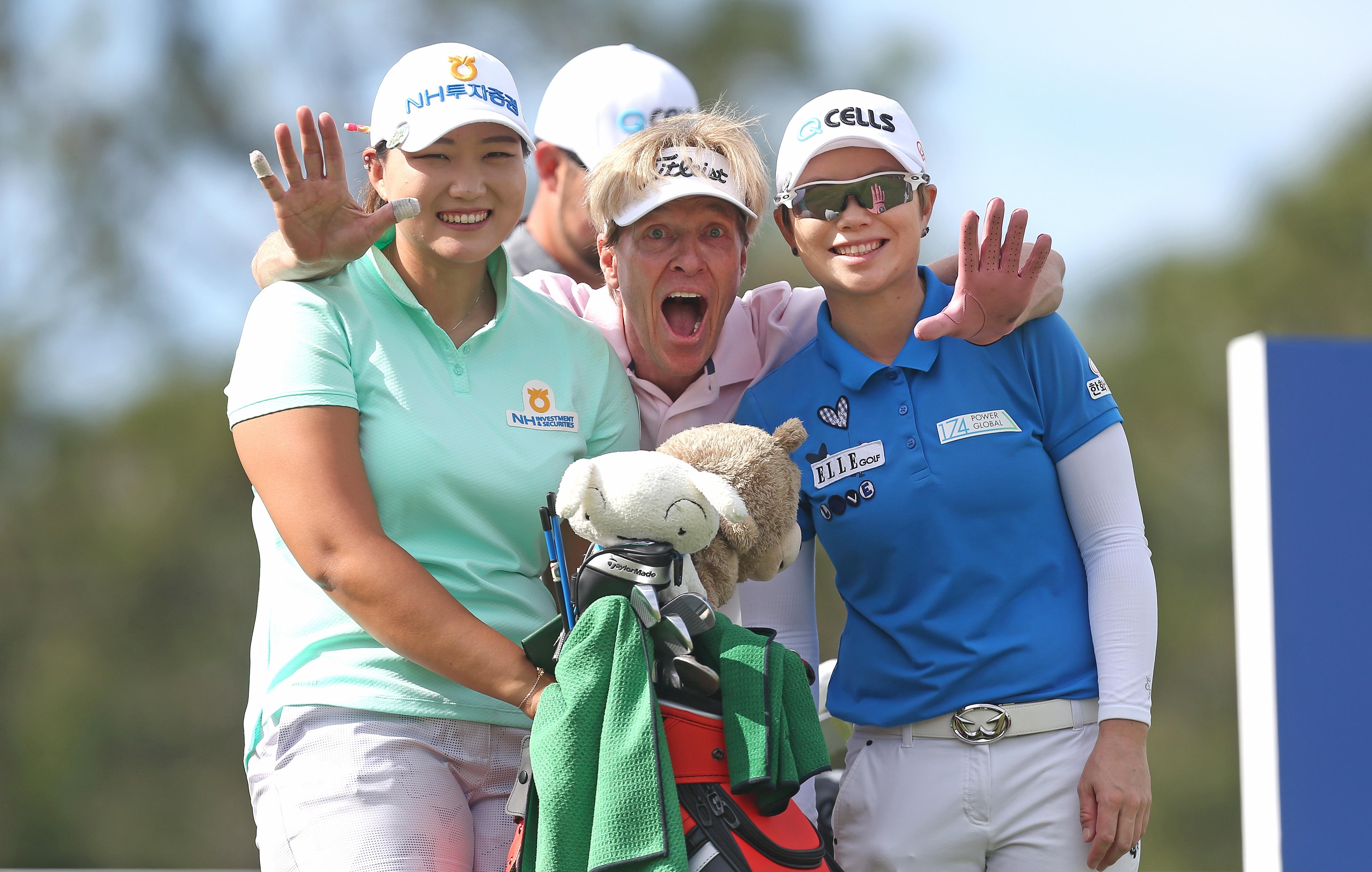 Mirim Lee, Eun-Hee Ji and Jack Wagner