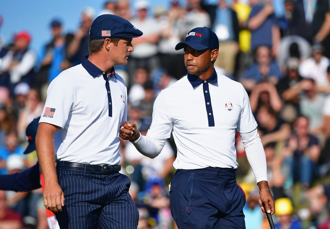 Bryson DeChambeau and Tiger Woods