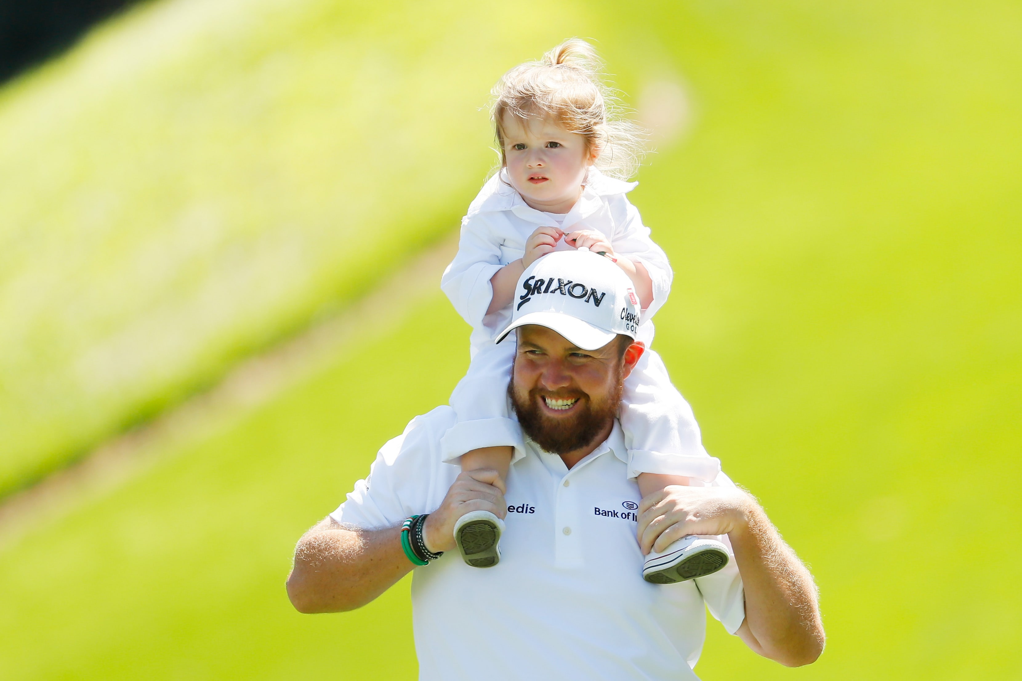 Shane Lowry and his daughter Iris