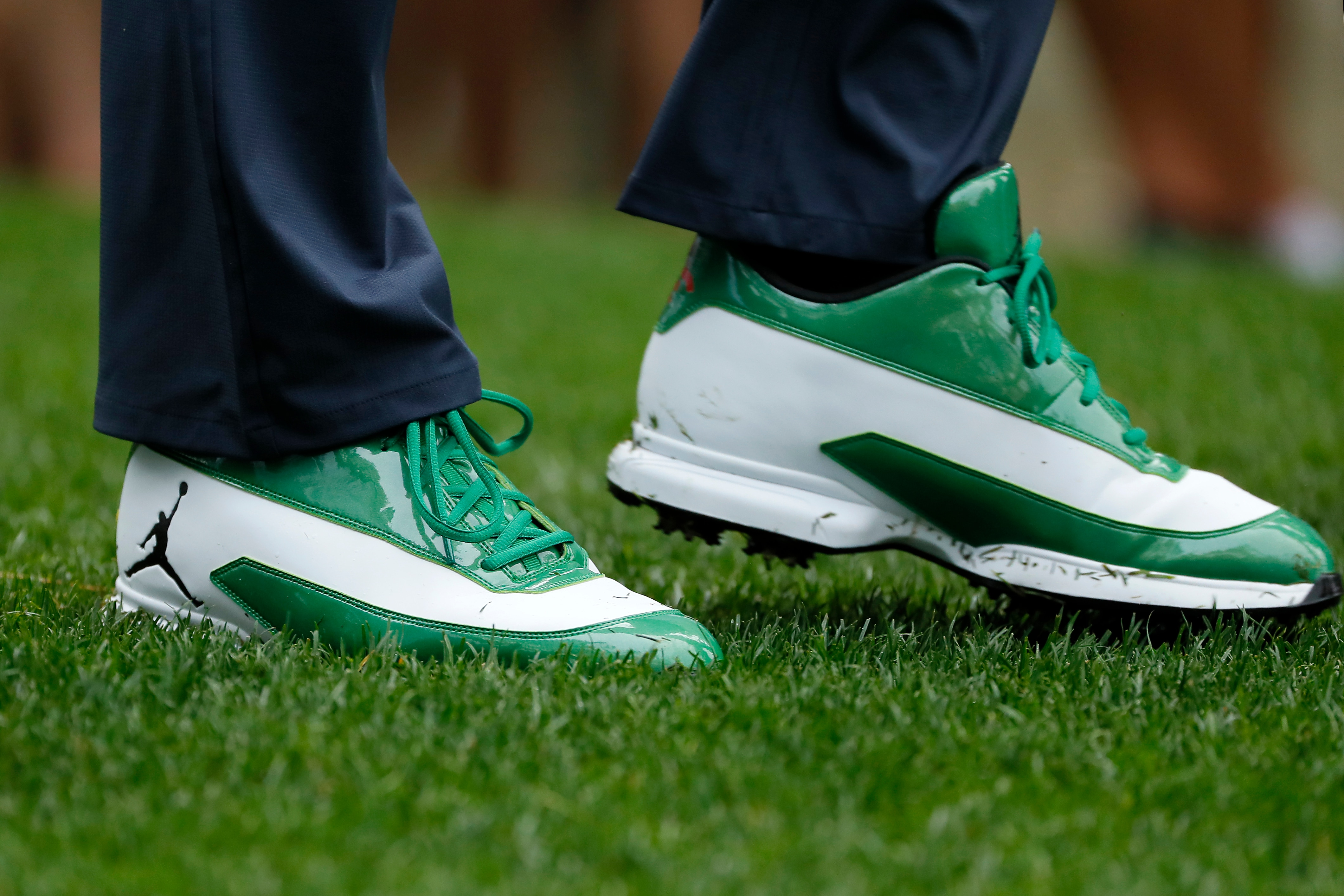 Keegan Bradley's shoes