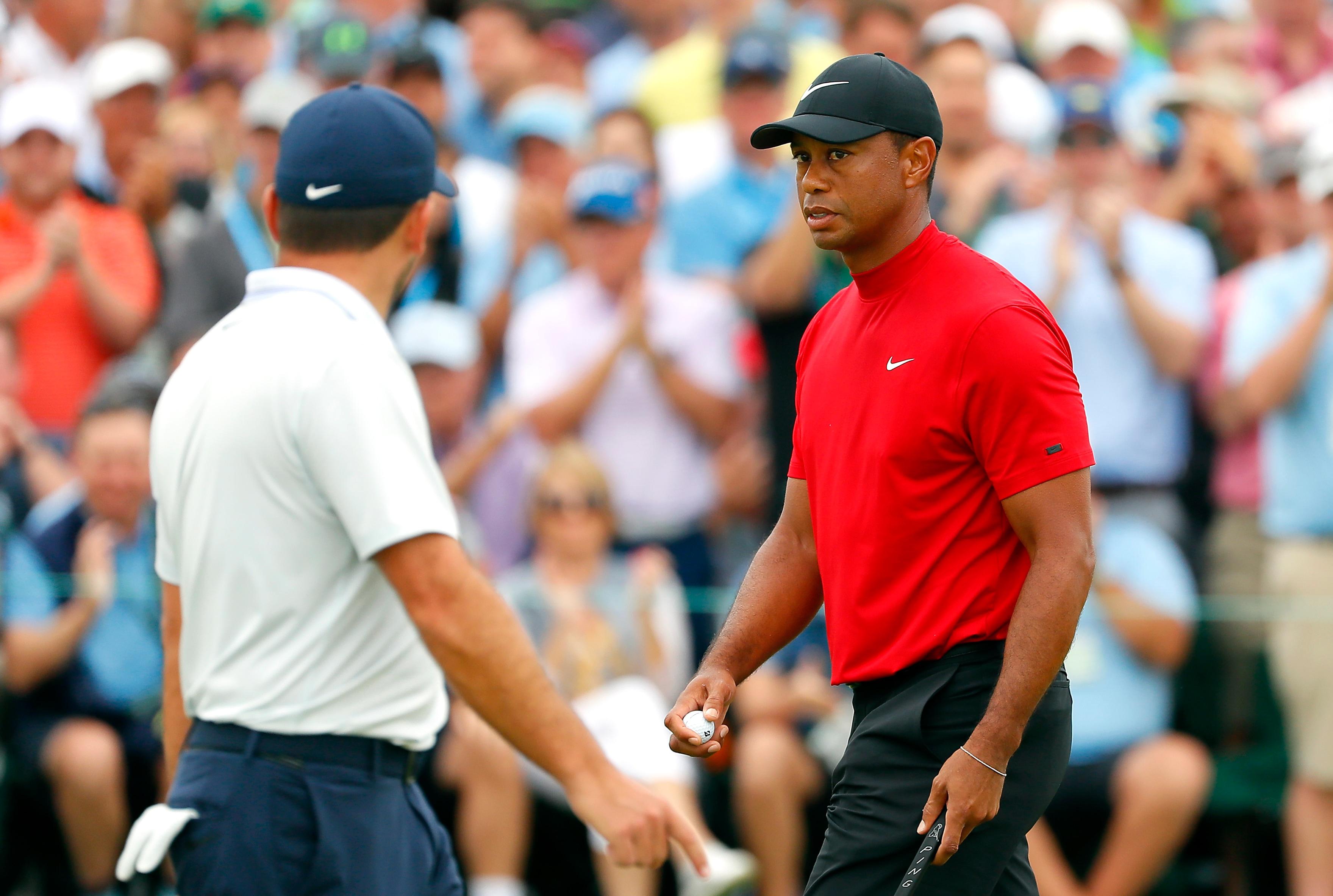 Tiger Woods and Francesco Molinari