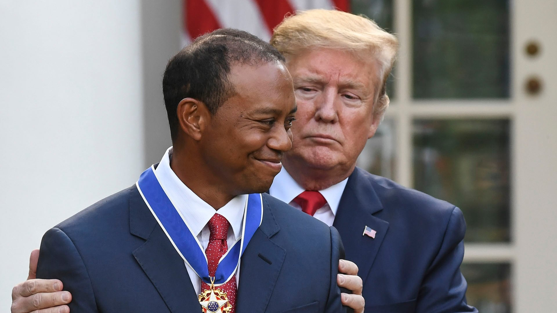 Tiger Woods and President Donald Trump