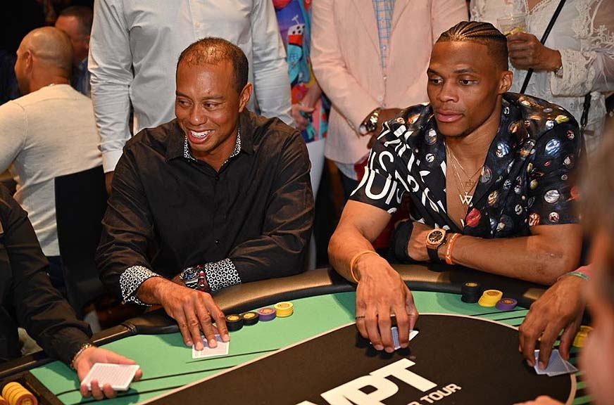Tiger Woods and Russell Westbrook