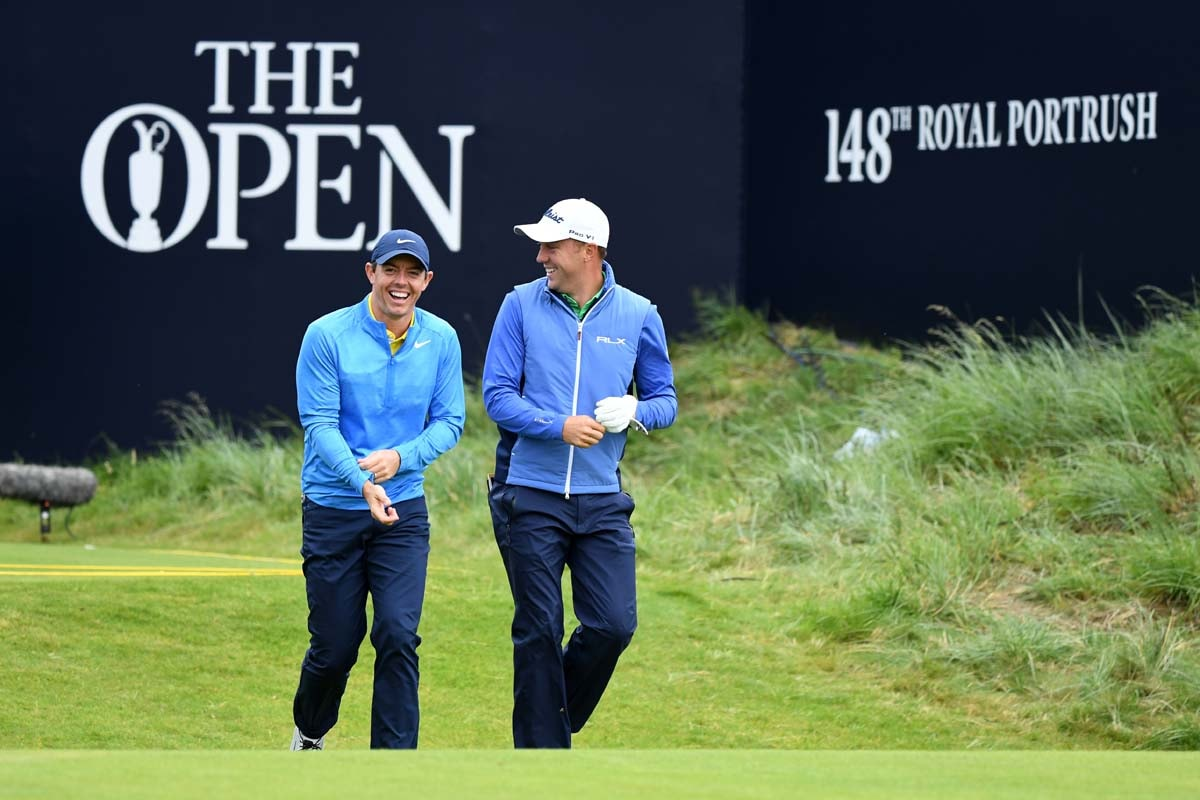 Rory McIlroy and Justin Thomas