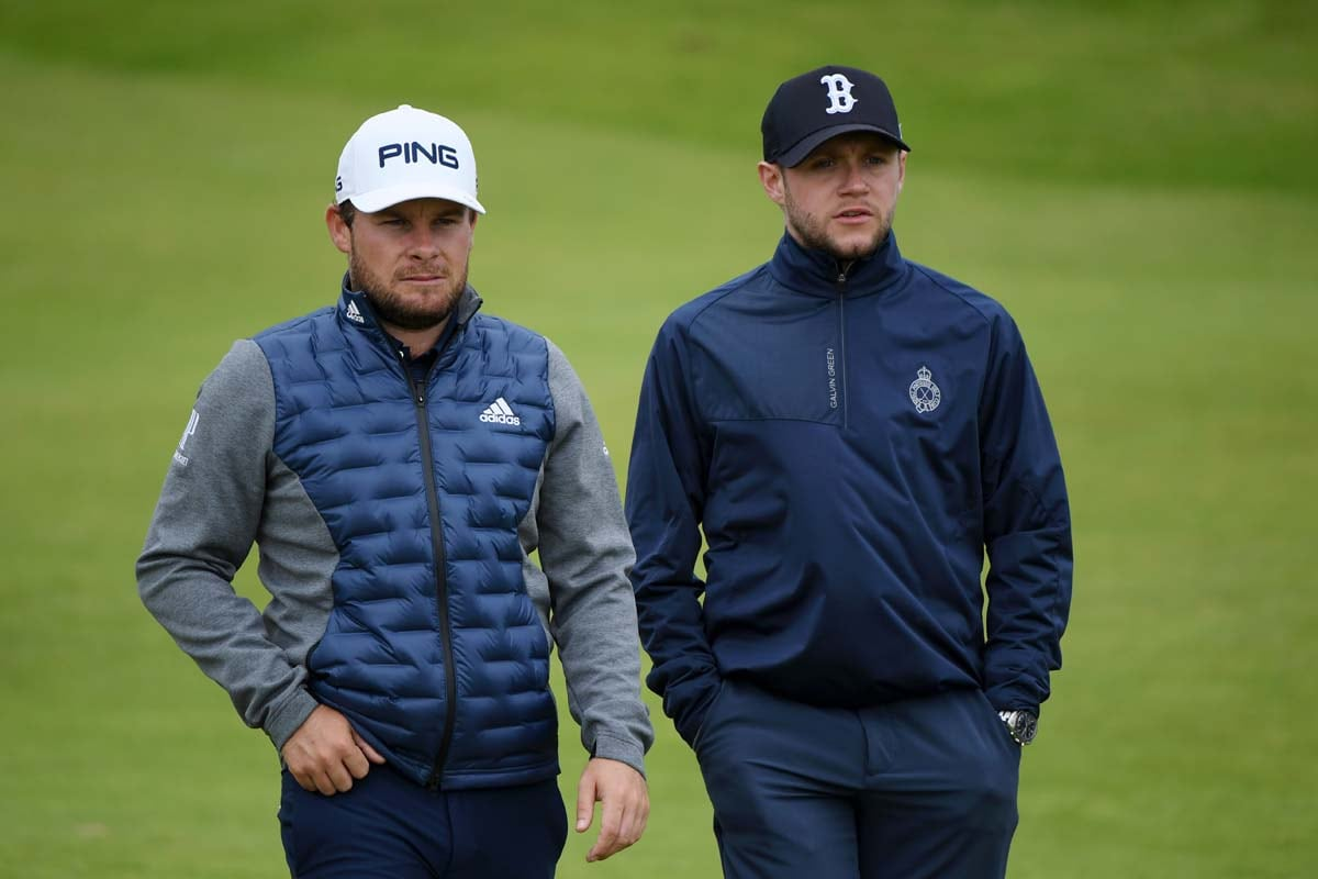 Tyrrell Hatton and Niall Horan