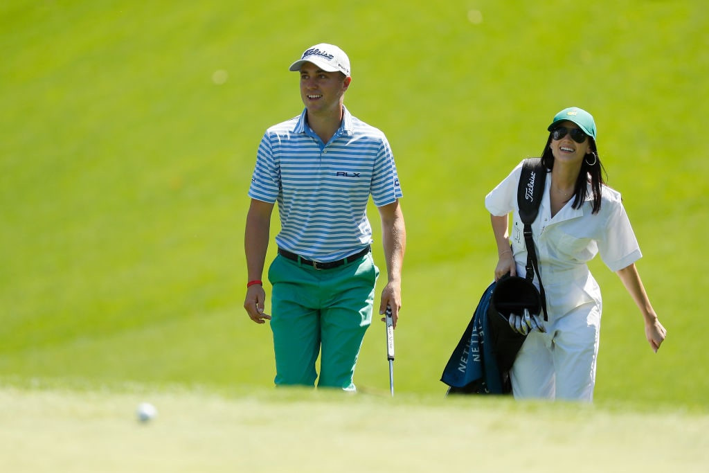 Justin Thomas and Jillian Wisniewski