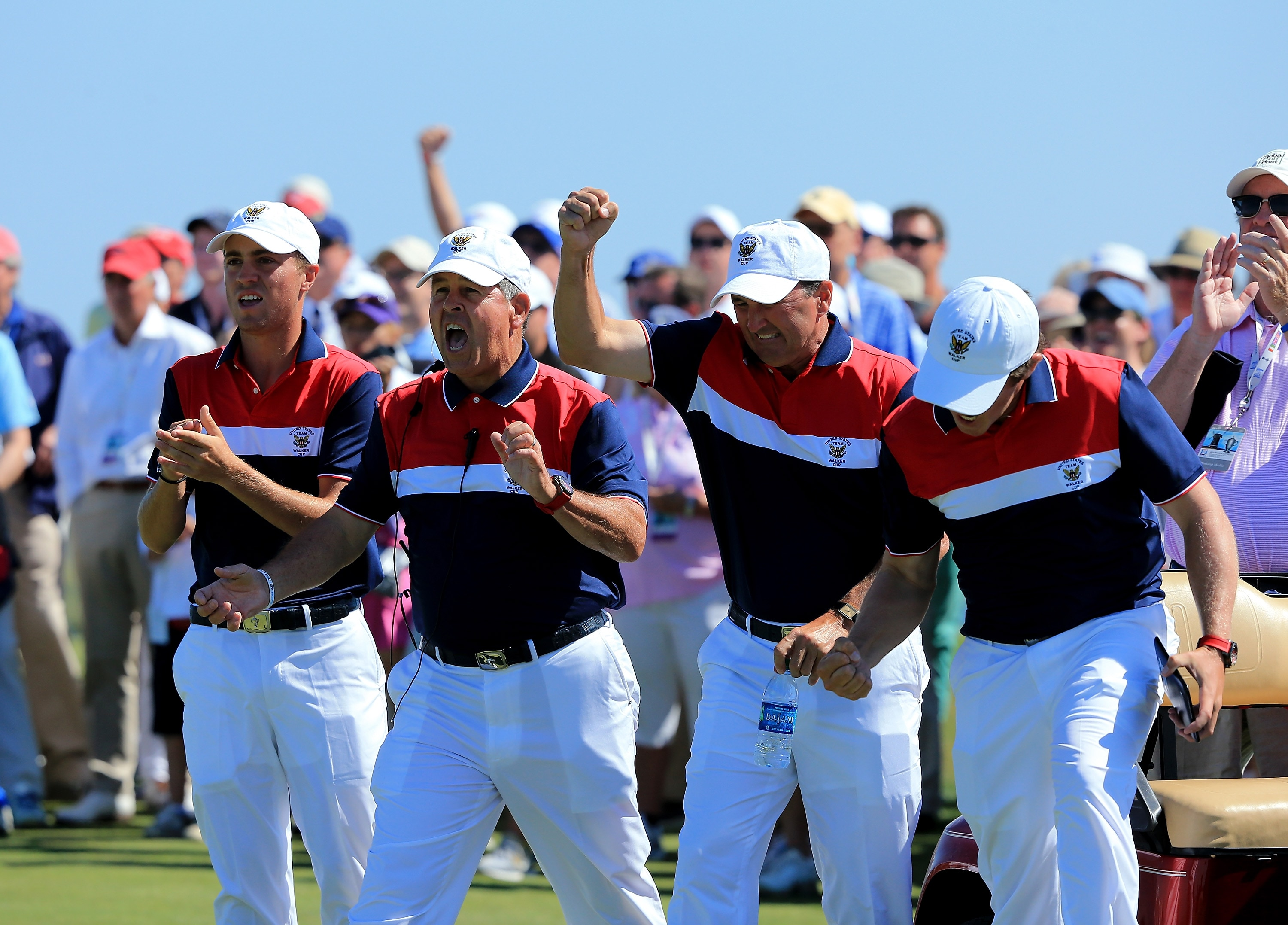 Justin Thomas and U.S. team, 2013 Walker Cup
