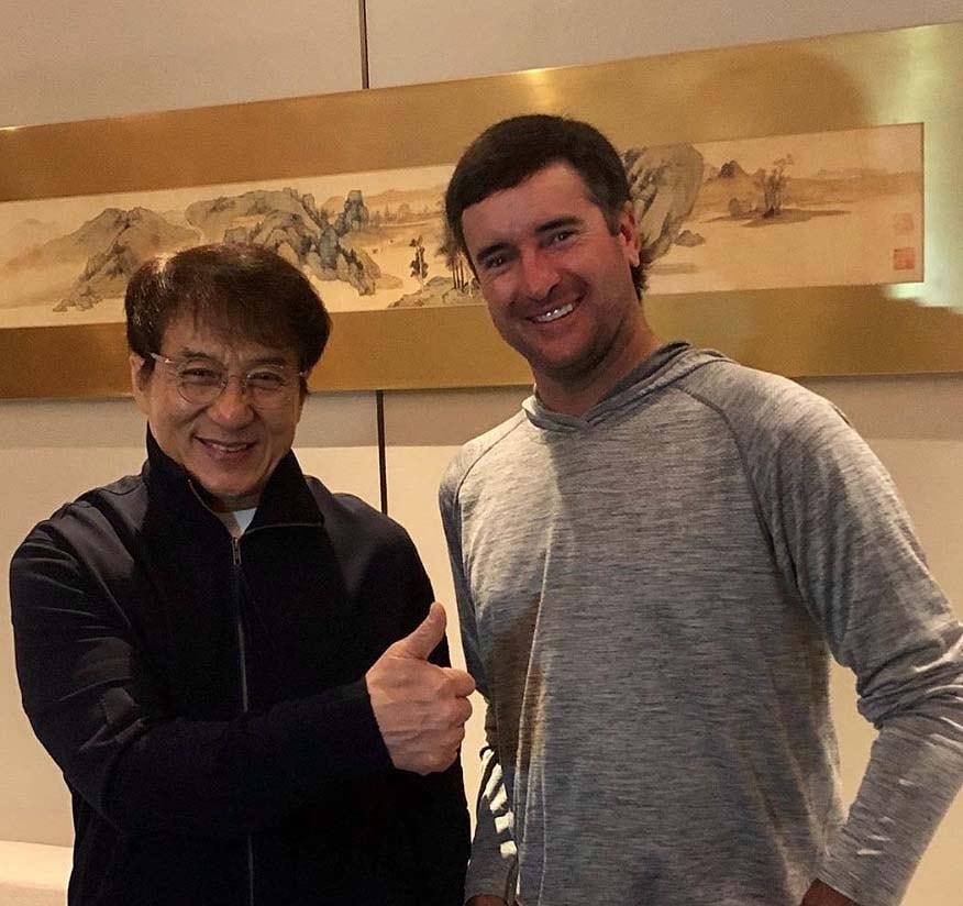Bubba Watson and Jackie Chan