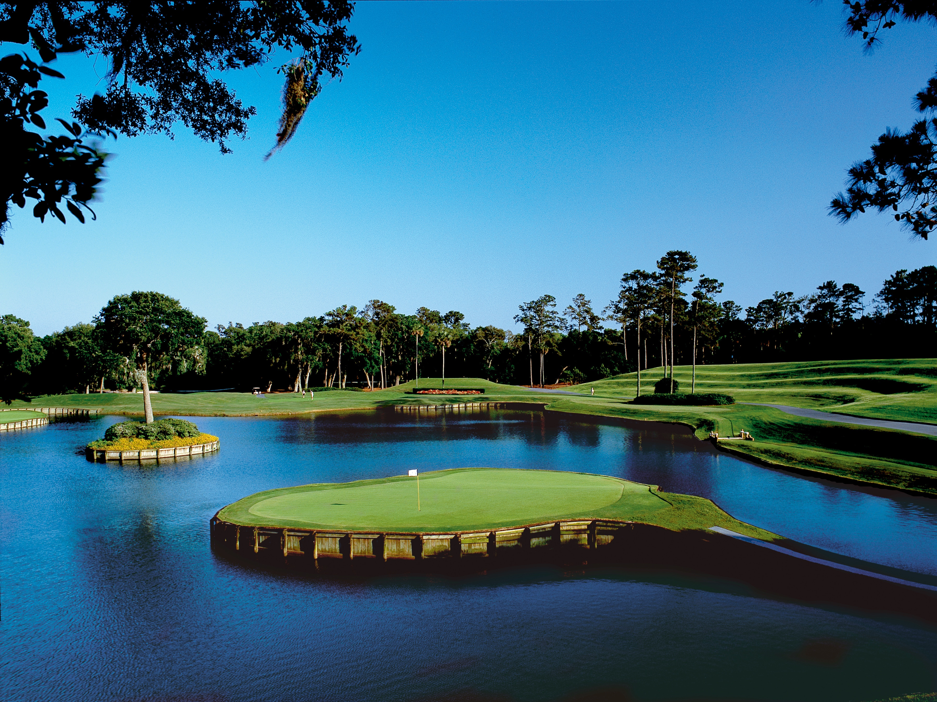 Par-3 17th on the Stadium Course at TPC Sawgrass