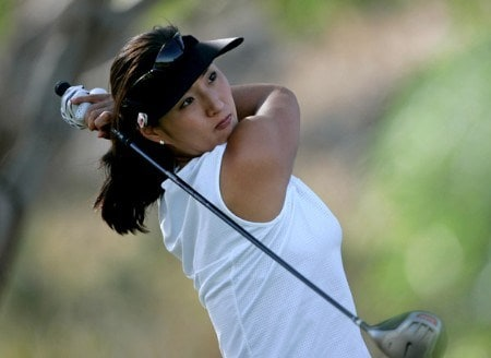 Grace Park in action during Monday's Pro-Am festivities at Wendy's 3 Tour Challenge at South Shore Golf Course at Lake Las Vegas in Henderson, Nevada on Monday November 14, 2005.Photo by Hunter Martin/WireImage.com