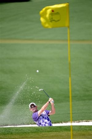 AUGUSTA, GA - APRIL 12:  Rory Sabbatini of South Africa plays a bunker shot on the second hole during the final round of the 2009 Masters Tournament at Augusta National Golf Club on April 12, 2009 in Augusta, Georgia.  (Photo by Harry How/Getty Images)