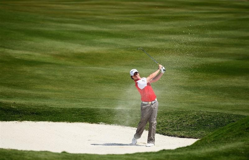 CASARES, SPAIN - MAY 21:  Rory McIlroy of Northern Ireland in action during his last 16 match of the Volvo World Match Play Championships at Finca Cortesin on May 20, 2011 in Casares, Spain.  (Photo by Warren Little/Getty Images)
