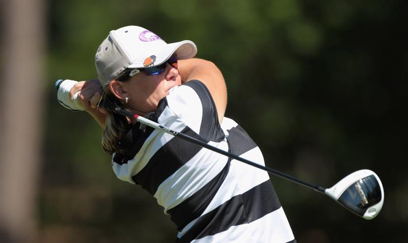 MOBILE, AL - APRIL 29:  Karen Stupples of England watches her tee shot on the 11th hole during the second round of the Avnet LPGA Classic at the Crossings Course at the Robert Trent Jones Trail at Magnolia Grove on April 29, 2011 in Mobile, Alabama  (Photo by Scott Halleran/Getty Images)
