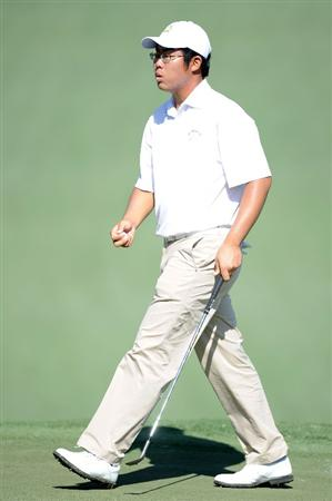 AUGUSTA, GA - APRIL 06:  Amateur Byeong-Hun An of South Korea walks across a green during a practice round prior to the 2010 Masters Tournament at Augusta National Golf Club on April 6, 2010 in Augusta, Georgia.  (Photo by Harry How/Getty Images)