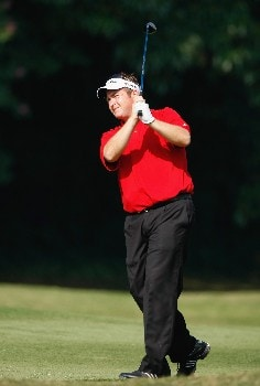 HONG KONG - NOVEMBER 16:  Garry Houston of Wales plays his approach shot on the 13th hole during the second round of the UBS Hong Kong Open at the Hong Kong Golf Club on November 16, 2007 in Fanling, Hong Kong.  (Photo by Stuart Franklin/Getty Images)