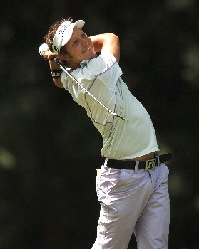 Fredrik Jacobson hits from the fourth tee during the second round of the 2005 Bank of America Colonial at Colonial Country Club in Forth Worth, Texas May 20, 2005.Photo by Steve Grayson/WireImage.com