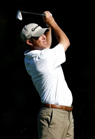 BOISE, ID - SEPTEMBER 18:  Jonathan Kaye hits his second shot on the 1st hole during the second round of the Albertson's Boise Open at Hillcrest Country Club on September 18, 2009 in Boise, Idaho.  (Photo by Jonathan Ferrey/Getty Images)