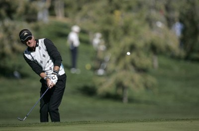 Jesper Parnevik during the fourth round of the Bob Hope Chrysler Classic held at The Classic Club in Palm Desert, California on Saturday, January 21, 2006Photo by Sam Greenwood/WireImage.com