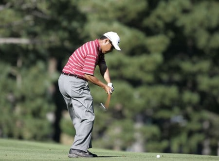 Notah Begay III in action during the second round at the Reno-Tahoe Open,  August 19,2005, held at Montreux GC, Reno, Nevada.Photo by Stan Badz/PGA TOUR/WireImage.com
