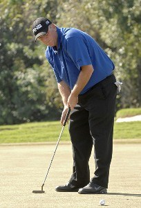 Mark Calcavecchia putts for birdie on the ninth hole during the second round of the 2006 Chrysler Championship held at the Westin Innisbrook Golf Resort in Palm Harbor, Florida on October 27, 2006. PGA TOUR - 2006 Chrysler Championship - Second RoundPhoto by Al Messerschmidt/WireImage.com