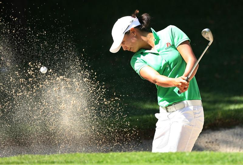 GUADALAJARA, MX - NOVEMBER 13: Sophia Sheridan hits her second shot on the 6th hole during the first round of the Lorena Ochoa Invitational at Guadalajara Country Club on November 13, 2008 in Guadalajara, Mexico. (Photo by Hunter Martin/Getty Images)