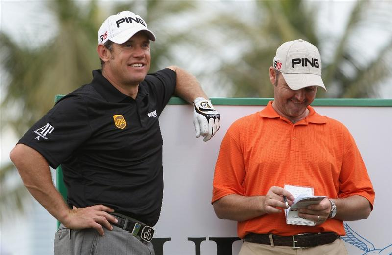 DUBAI, UNITED ARAB EMIRATES - FEBRUARY 9:  Lee Westwood of England looks on during the pro-am for the 2011 Omega Dubai desert Classic held on the Majilis Course at the Emirates Golf Club on February 9, 2011 in Dubai, United Arab Emirates.  (Photo by Ian Walton/Getty Images)