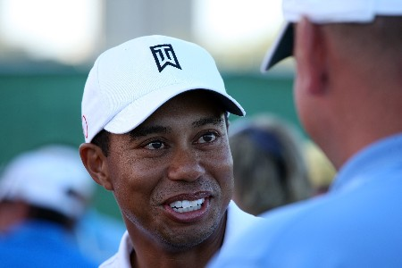 DUBAI, UNITED ARAB EMIRATES - JANUARY 29:  Tiger Woods of the USA after the Dubai Desert Classic Challenge Match, held on the par 3, course at the Emirates Golf Club, on January 29, 2007 in Dubai, United Arab Emirates.  (Photo by David Cannon/Getty Images)