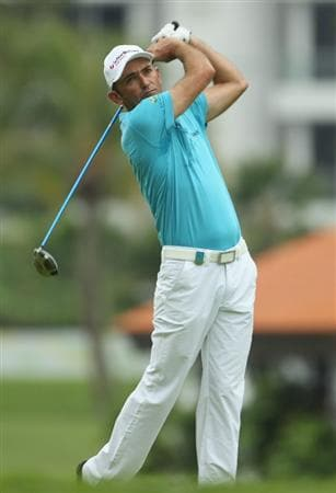 SINGAPORE - NOVEMBER 12:  Markus Brier of Austria in action during the First Round of the Barclays Singapore Open at Sentosa Golf Club on November 12, 2010 in Singapore, Singapore.  (Photo by Ian Walton/Getty Images)