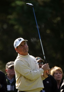 CHARLOTTE, NC - APRIL 30:  Fred Couples plays a shot on the 6th hole during the Wednesday pro-am round for the Wachovia Championship at Quail Hollow Country Club on April 30, 2008 in Charlotte, North Carolina.  (Photo by Sam Greenwood/Getty Images)