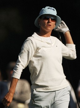 Patricia Meunier-Lebouc in action during the second round of the LPGA's 2005 Kraft Nabisco Championship, at Mission Hills Country Club in Rancho Mirage, California March 25, 2005.