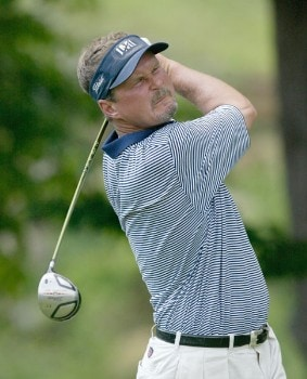 Jim McGovern during the third round of the 2005 National Mining Association Pete Dye Classic at the Pete Dye Golf Club in Bridgeport, West Virginia on Saturday, July 9th, 2005.Photo by Hunter Martin/WireImage.com