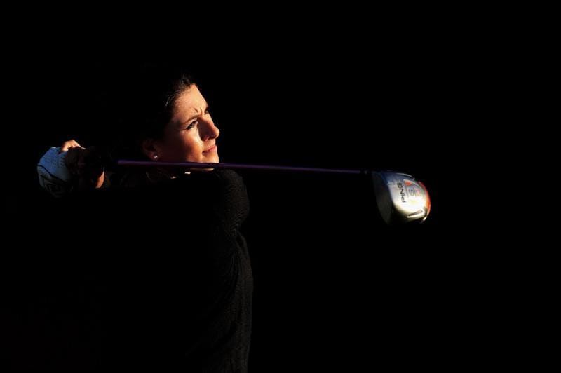 EVIAN-LES-BAINS, FRANCE - JULY 25:  JULY 25:  Maria Verchenova of Russia plays a shot during the third round of the Evian Masters at the Evian Masters Golf Club on July 25, 2009 in Evian-les-Bains, France.  (Photo by Stuart Franklin/Getty Images)