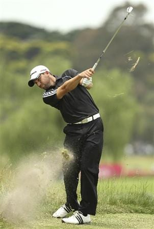 MELBOURNE, AUSTRALIA - NOVEMBER 11:  Sergio Garcia of Spain plays a shot during day one of the Australian Masters at The Victoria Golf Club on November 11, 2010 in Melbourne, Australia.  (Photo by Lucas Dawson/Getty Images)
